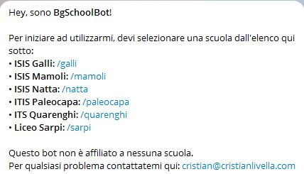 BGSchoolBot_Scelta scuola